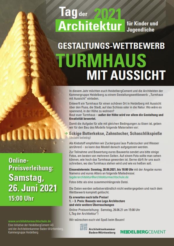 Tag der Architektur für Kinder und Jugendliche 2021 Plakat